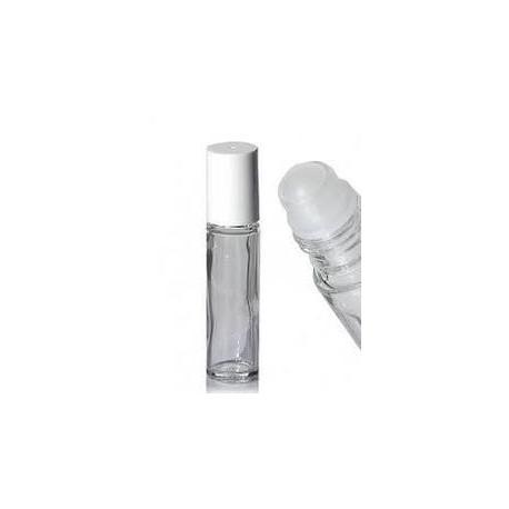 Roll-on Glas, 10ml mit weißem Deckel