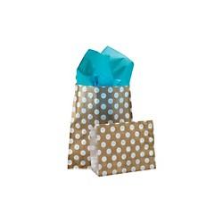 Papírový sáček s růžovými puntíky, 50ks