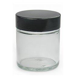Transparente Schale mit schwarzem Deckel 30ml