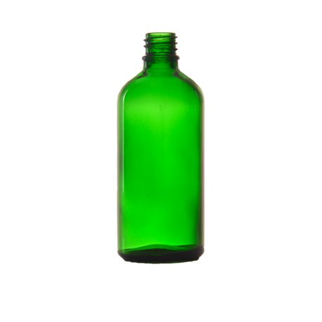 Skleněná lékovka, zelená 100ml bez uzávěru