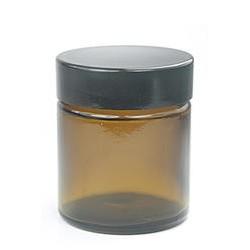 30ml skleněný obal na krém sklo s černým víčkem