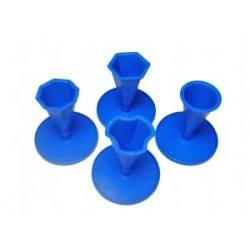 Modré formy na svíčku - set čtyř druhů
