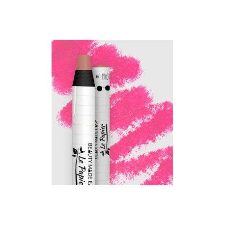 Le Papier natürlicher Lippenstift in einer Papierverpackung, matt, 6 g - Rouge
