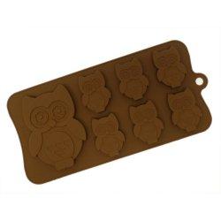 Silikonová forma na čokoládku nebo mýdla - sovičky