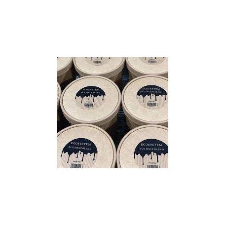 Raps-Kokosnusswachs, eine Mischung, die sich ideal für Teelichter und Gussteile eignet