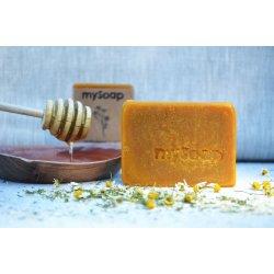 Feste Seife und Shampoo aus Kamille und Honig