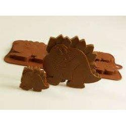 4 + 1 Dinosaurier Silikon Schokolade / Backform