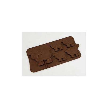 4 + 1 Schaf, Silikonschokolade / Backform