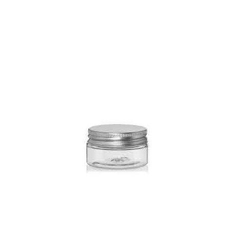 25 ml PET-Cremeschale mit Aluminiumdeckel