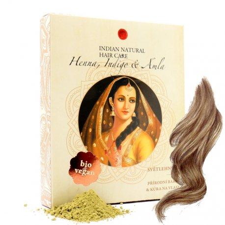 Henna, Indigo & Amla 200g - hellbraune Farbe