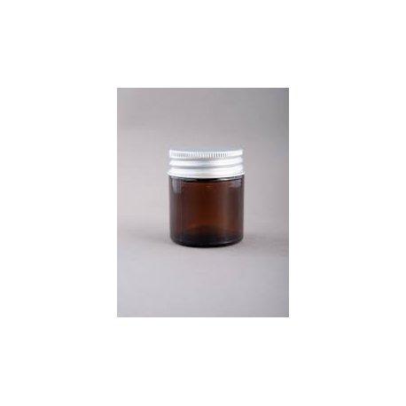 30 ml Glas, braun mit Aluminiumdeckel