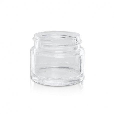 15ml Glasbehälter für cremefarbenes Glas - Deckel Gold