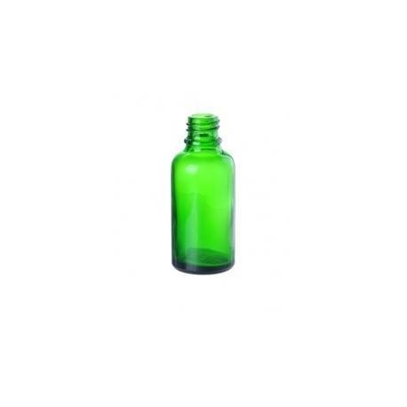 Skleněná lahvička, ZELENÁ, 30ml