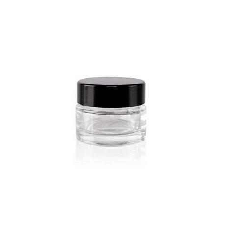 Glasschale, 5 ml, schwarzer Deckel