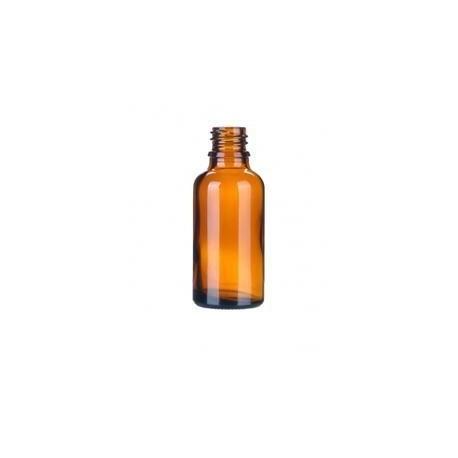 Skleněná lahvička, lékovka 30ml  bez uzávěru