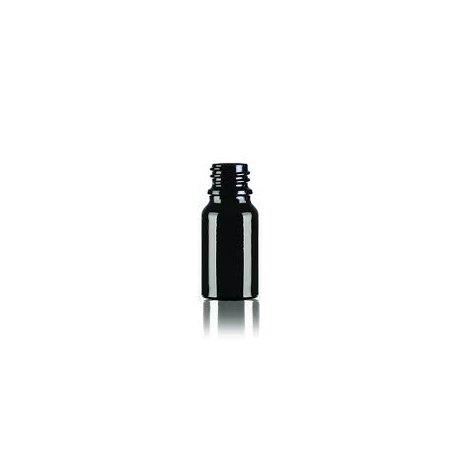 Skleněná lahvička, Černá, 10ml