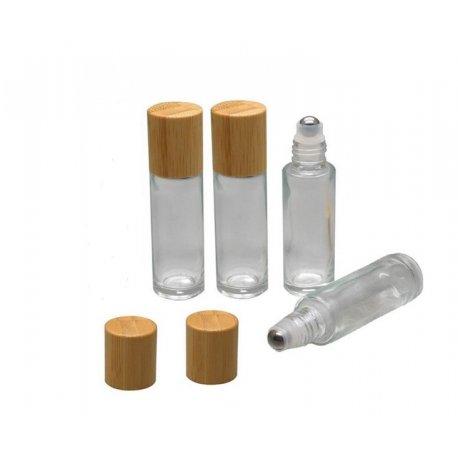 Roll-on, 10 ml mit Metallkugel und Bambusdeckel