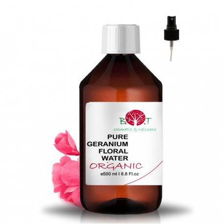 Geranium květová voda s rozprašovačem, organic