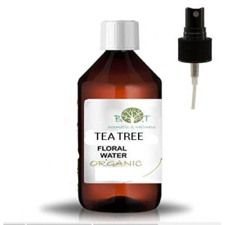 Tea tree květová voda s rozprašovačem, organic