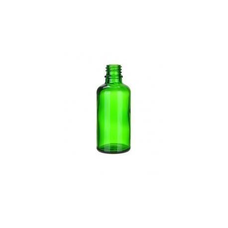 Skleněná lahvička, ZELENÁ, 50ml