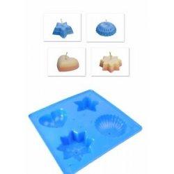 Modrá forma na odlévání - průměr 10cm