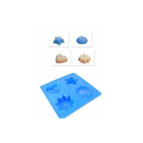 Blaue Form zum Gießen - Durchmesser 10cm