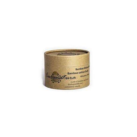 Bambusové vatové tyčinky, kulatá krabička