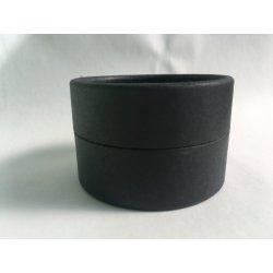 Papiereinband schwarz matt