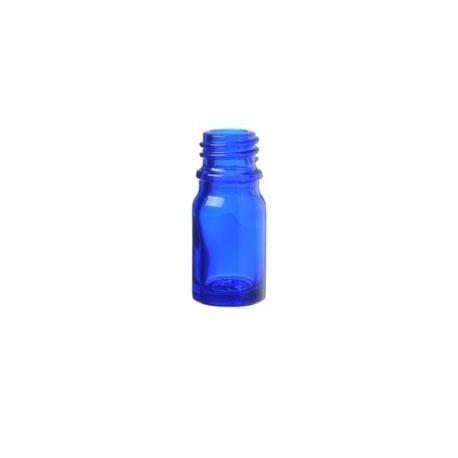 Skleněná lahvička, 5ml - MODRÁ