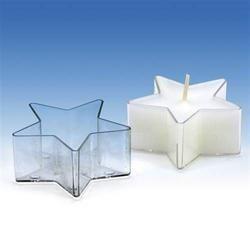 Kunststoffform für kleine und Teelichter STAR