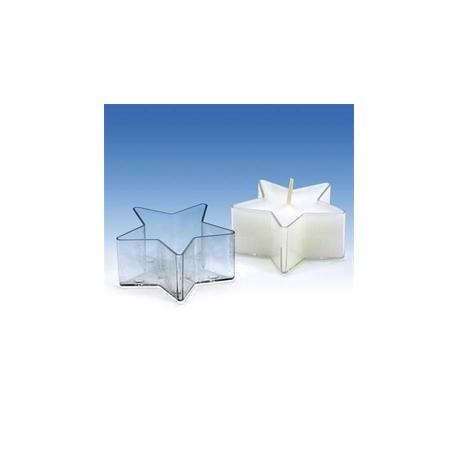 Plastová forma na malé a čajové svíčky HVĚZDIČKA