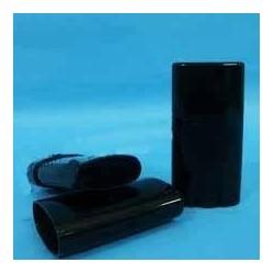 Hülle für feste Deos, 15 ml schwarz, flach