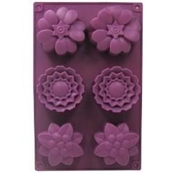 Formen für Seifen oder Schokolade - Blumen Nr.2