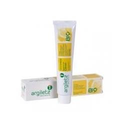 Zubní pasta s bílým a žlutým jílem citron BIO