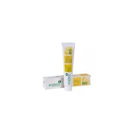 Zahnpasta mit weißer und gelber Tonzitrone BIO