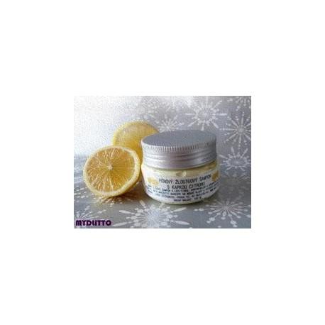 PĚNOVÝ žloutkový šampon s kapkou citronu