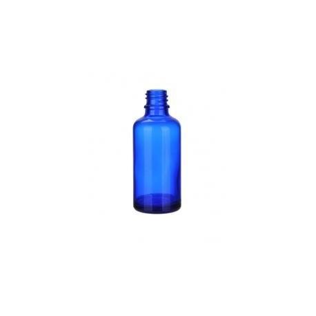 Skleněná lahvička, MODRÁ , 50ml