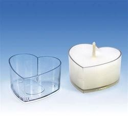 Kunststoffform für kleine und Teekerzen HEART