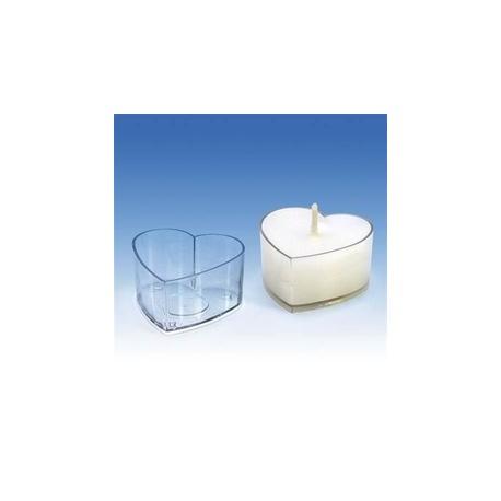 Plastová forma na malé a čajové svíčky SRDCE